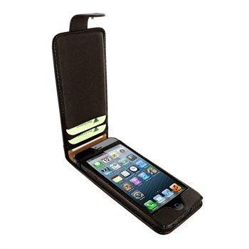 iPhone 5 / 5S / SE Piel Frama Kannellinen Nahkakotelo Ruskea