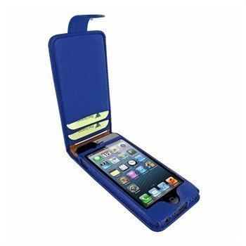 iPhone 5 / 5S / SE Piel Frama Kannellinen Nahkakotelo Tummansininen