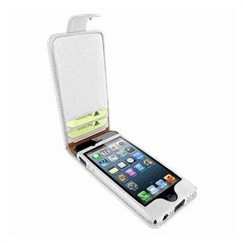 iPhone 5 / 5S / SE Piel Frama Kannellinen Nahkakotelo Valkoinen