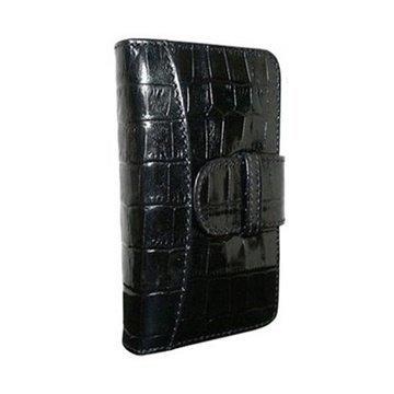 iPhone 5 / 5S / SE Piel Frama Lompakkomallinen Nahkakotelo Korkotiili Musta