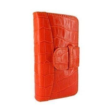 iPhone 5 / 5S / SE Piel Frama Lompakkomallinen Nahkakotelo Korkotiili Oranssi