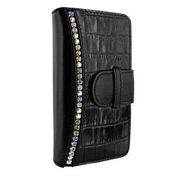 iPhone 5 / 5S / SE Piel Frama Swaro Lompakkomallinen Nahkakotelo Musta
