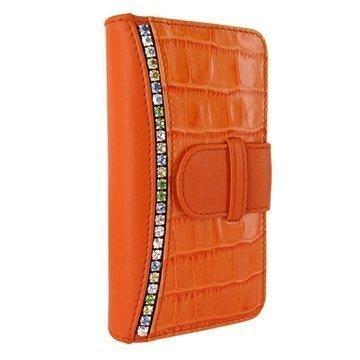 iPhone 5 / 5S / SE Piel Frama Swaro Lompakkomallinen Nahkakotelo Oranssi