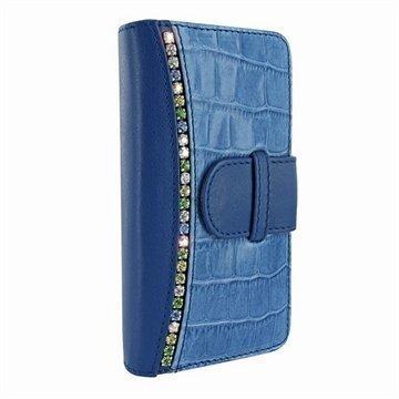 iPhone 5 / 5S / SE Piel Frama Swaro Lompakkomallinen Nahkakotelo Sininen