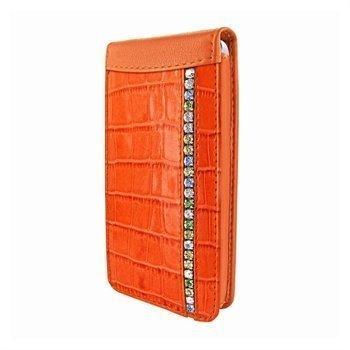 iPhone 5 / 5S / SE Piel Frama Swarovskin Magneettinen Nahkakotelo Oranssi