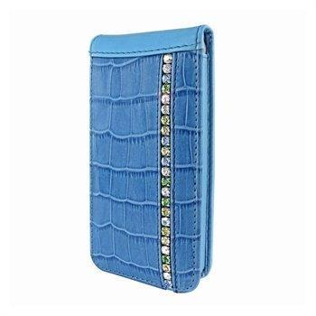 iPhone 5 / 5S / SE Piel Frama Swarovskin Magneettinen Nahkakotelo Sininen