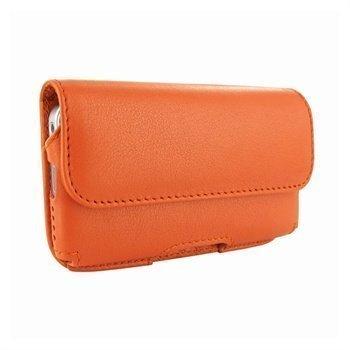 iPhone 5 / 5S / SE Piel Frama Vaakasuuntainen Nahkakotelo Oranssi