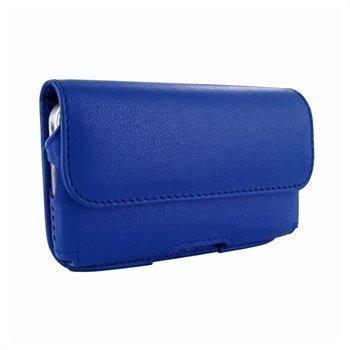 iPhone 5 / 5S / SE Piel Frama Vaakasuuntainen Nahkakotelo Tummansininen