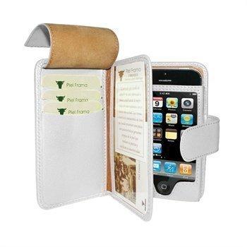 iPhone 5 / 5S / SE Piel Frama Wallet Nahkakotelo Valkoinen