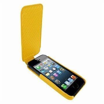 iPhone 5 / 5S / SE Piel Frama iMagnum Nahkakotelo Keltainen