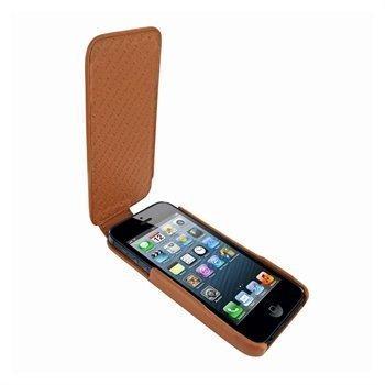 iPhone 5 / 5S / SE Piel Frama iMagnum Nahkakotelo Keltaisenruskea