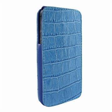 iPhone 5 / 5S / SE Piel Frama iMagnum Nahkakotelo Korokotiili Sininen