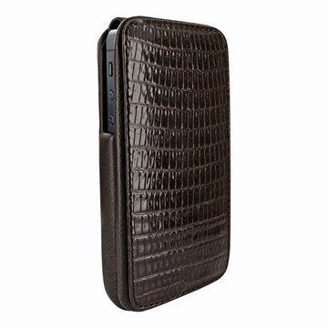 iPhone 5 / 5S / SE Piel Frama iMagnum Nahkakotelo Lisko Ruskea