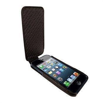 iPhone 5 / 5S / SE Piel Frama iMagnum Nahkakotelo Ruskea