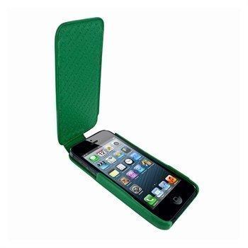 iPhone 5 / 5S / SE Piel Frama iMagnum Nahkakotelo Vihreä