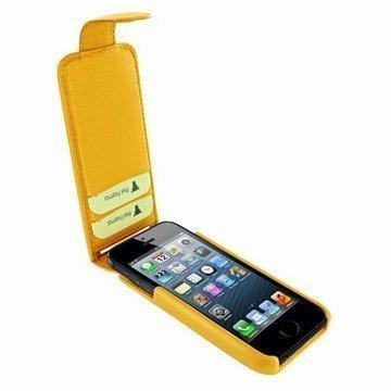 iPhone 5 / 5S / SE Piel Frama iMagnum2 Nahkakotelo Keltainen
