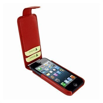 iPhone 5 / 5S / SE Piel Frama iMagnum2 Nahkakotelo Punainen