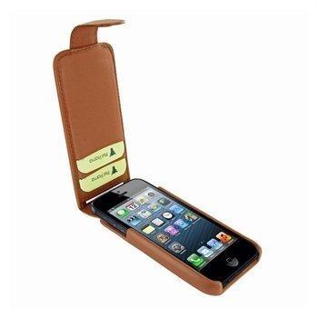 iPhone 5 / 5S / SE Piel Frama iMagnum2 Nahkakotelo Ruskea