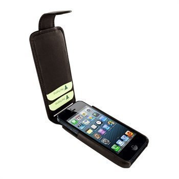 iPhone 5 / 5S / SE Piel Frama iMagnum2 Nahkakotelo Tummanruskea