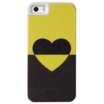 iPhone 5 / 5S / SE Puro Bi-Heart Kotelo Limenvihreä