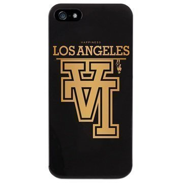 iPhone 5 / 5S / SE Puro Happiness Los Angeles Kotelo Musta