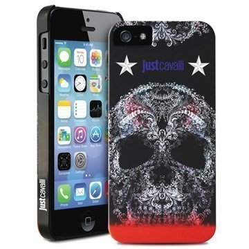iPhone 5 / 5S / SE Puro Just Cavalli Skull Kotelo Musta