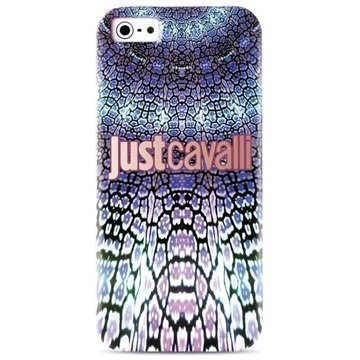 iPhone 5 / 5S / SE Puro Just Cavalli Wild Mandala TPU Kotelo Violetti