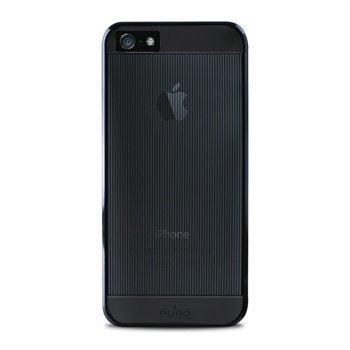 iPhone 5 / 5S / SE Puro Mirror Suojakotelo Läpinäkyvä Musta