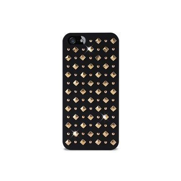 iPhone 5 / 5S / SE Puro Rock Round And Square Studs Kotelo Musta