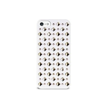 iPhone 5 / 5S / SE Puro Rock Round And Square Studs Kotelo Valkoinen