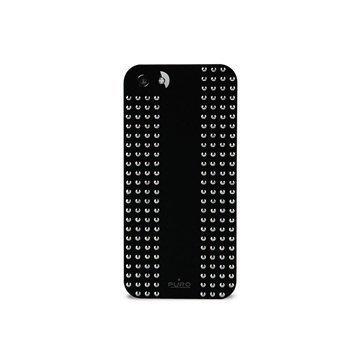 iPhone 5 / 5S / SE Puro Rock Round Studs Kotelo Musta