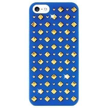 iPhone 5 / 5S / SE Puro Rock Round and Square Studs Kotelo Sininen
