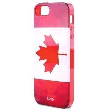 iPhone 5 / 5S / SE Puro Silikonikuori Kanadan Lippu