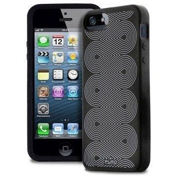 iPhone 5 / 5S / SE Puro Silikonikuori Musta