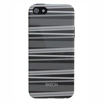 iPhone 5 / 5S / SE Skech Groove Napsautuskuori Harmaa