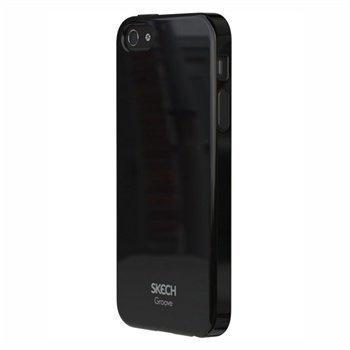 iPhone 5 / 5S / SE Skech Groove Napsautuskuori Musta