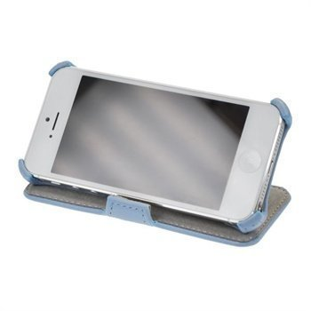 iPhone 5 / 5S / SE StarCase Oslo Book Case Litchi Blue