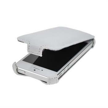 iPhone 5 / 5S / SE StarCase Roma Flip Leather Case White