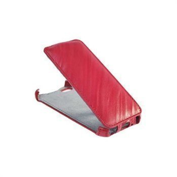 iPhone 5 / 5S / SE StarCase Roma Linea Flip Leather Case Fuchsia