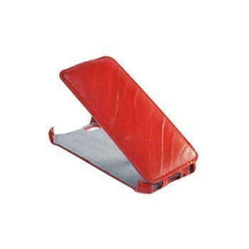 iPhone 5 / 5S / SE StarCase Roma Linea Flip Leather Case Red