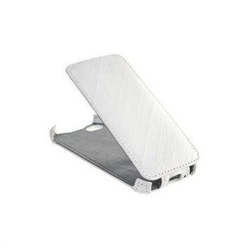 iPhone 5 / 5S / SE StarCase Roma Linea Flip Leather Case White