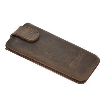 iPhone 5 / 5S / SE StarCase Vellutato Leather Case Grey