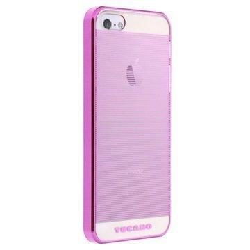 iPhone 5 / 5S / SE Tucano Plissè Snap Suojakuori Fuksianpunainen