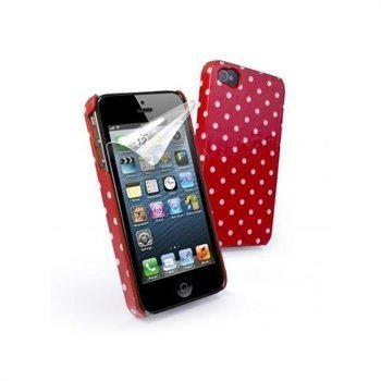 iPhone 5 / 5S / SE Tuff-Luv Tuff-Shell Polka Hot Suojakuori Vadelma