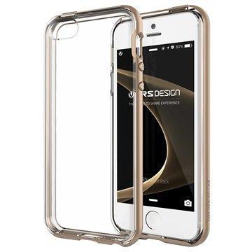 iPhone 5 / 5S / SE VRS Design Crystal Bumper Series Kotelo Hohtava Kulta