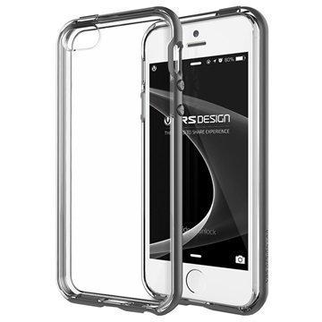 iPhone 5 / 5S / SE VRS Design Crystal Bumper Series Kotelo Teräksenhopea