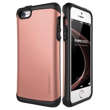 iPhone 5 / 5S / SE VRS Design Thor Hard Drop Series Suojakuori Ruusukulta