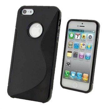 iPhone 5 / 5S / SE iGadgitz Dual Tone Napsautuskuori Musta