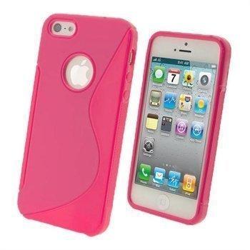 iPhone 5 / 5S / SE iGadgitz Dual Tone Napsautuskuori Pinkki