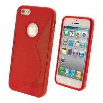 iPhone 5 / 5S / SE iGadgitz Dual Tone Napsautuskuori Punainen